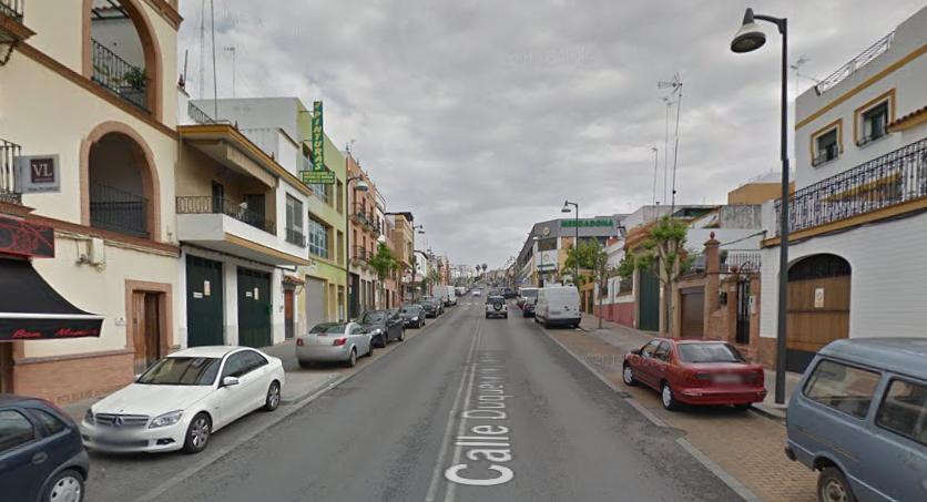 De laatste sprint (Foto: Google Streetview)