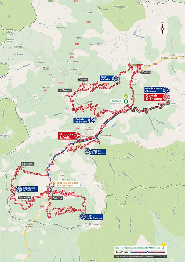 De route van etappe 11 (Afbeelding: letour.fr)