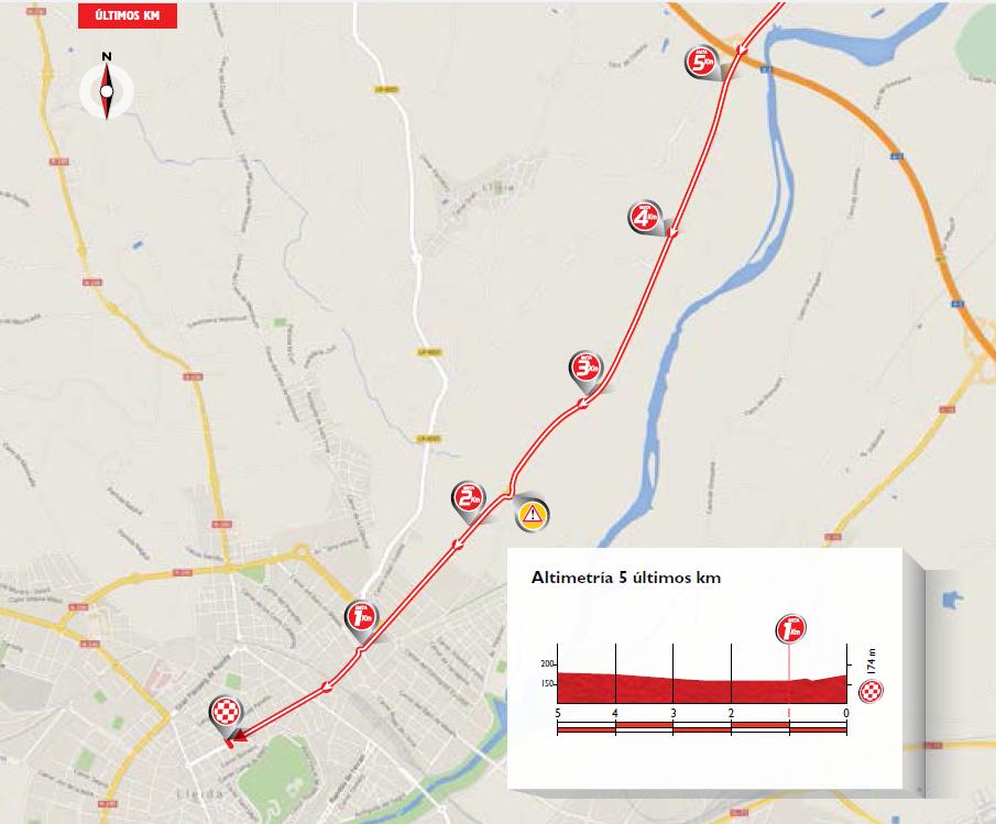 De laatste vijf kilometers zijn niet al te lastig