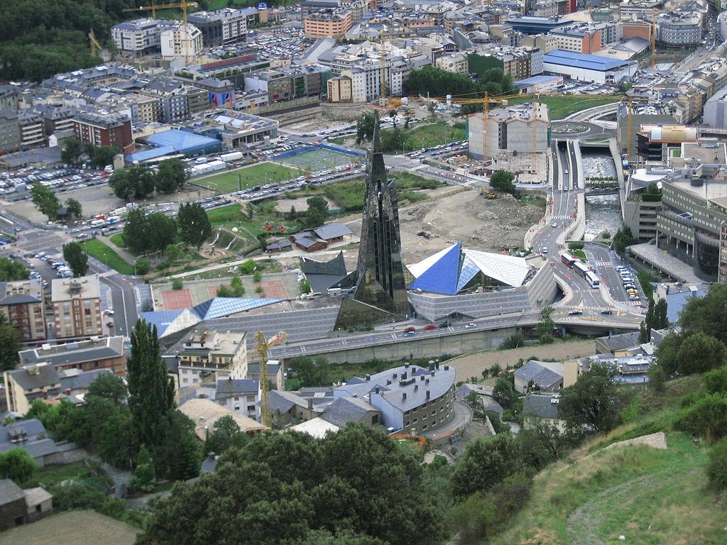Escaldes-Engordany, de laatste stad van Andorra (Foto: WikiCommons)