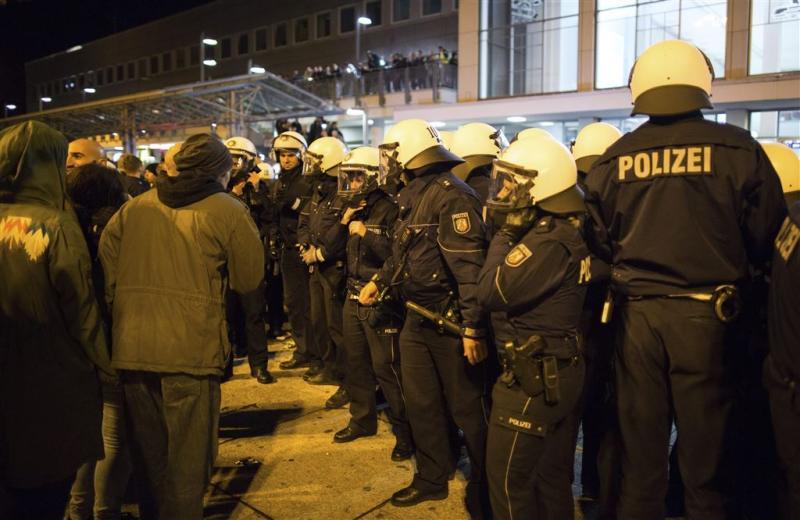 Extreemrechts protesteert in Dortmund