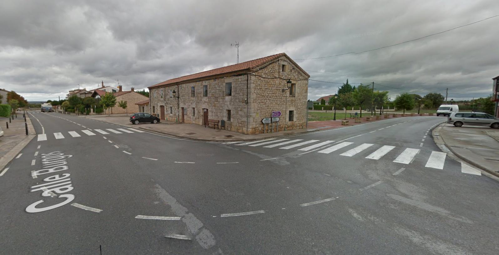 De weg door Carcedo de Burgos (Foto: Google Streetview)