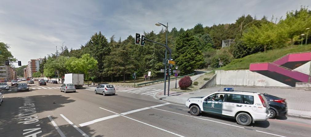 De weg terug naar Burgos (Foto: Google Streetview)
