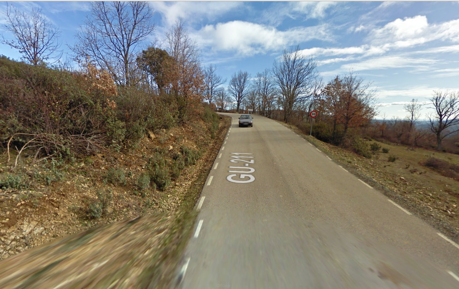 De wegen rond Palancares (Foto: Google Streetview)