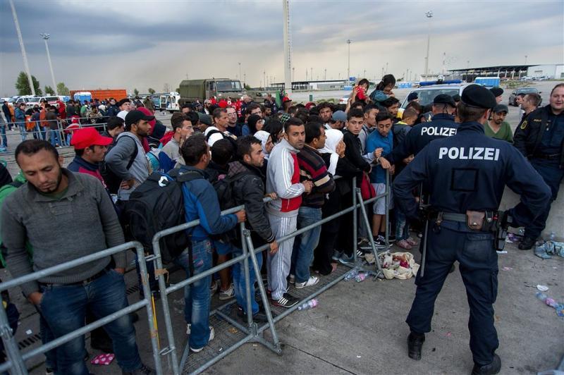 Vluchtelingen blijven naar Oostenrijk komen