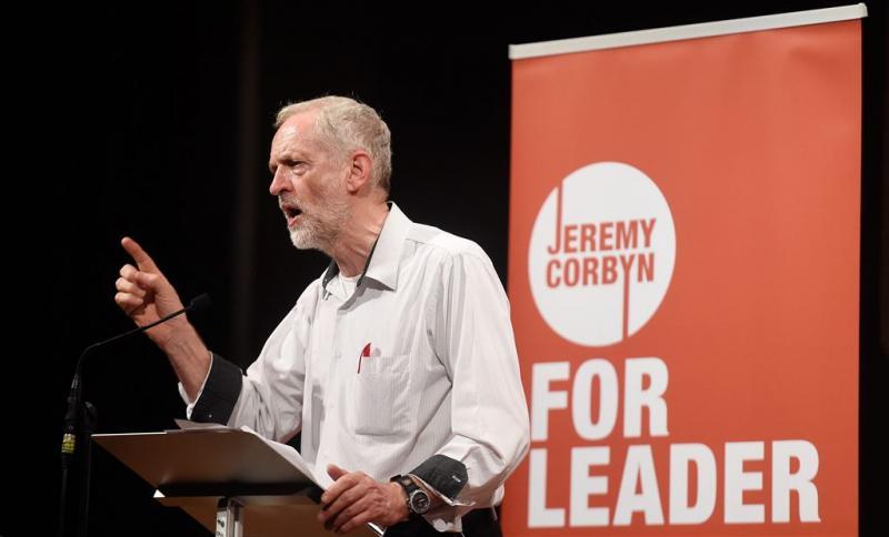 Hardliner Jeremy Corbyn stevent af op winst