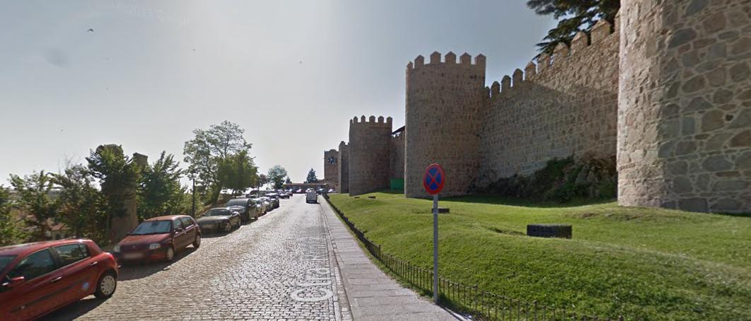 De kasseien die het laatste deel van de etappe vormen (Foto: Google Streetview)
