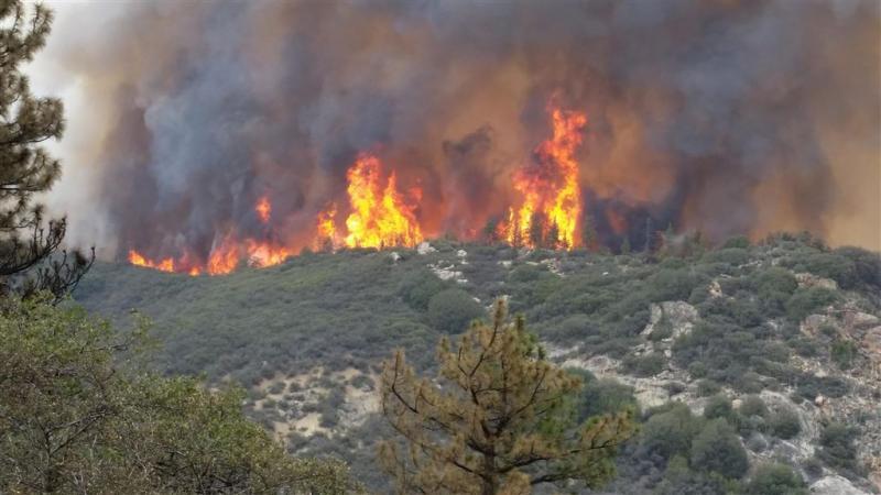 Bosbranden Californië nog niet in bedwang