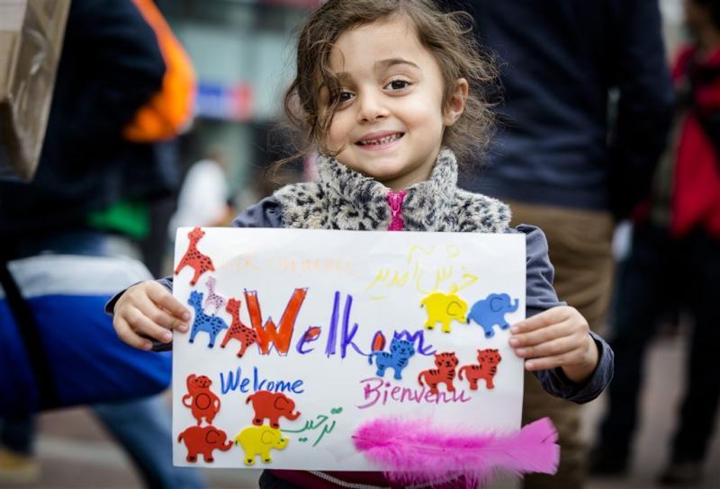 Demonstratie voor opnemen meer vluchtelingen
