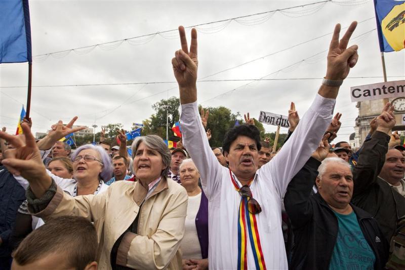 Duizenden protesteren tegen regering Moldavië