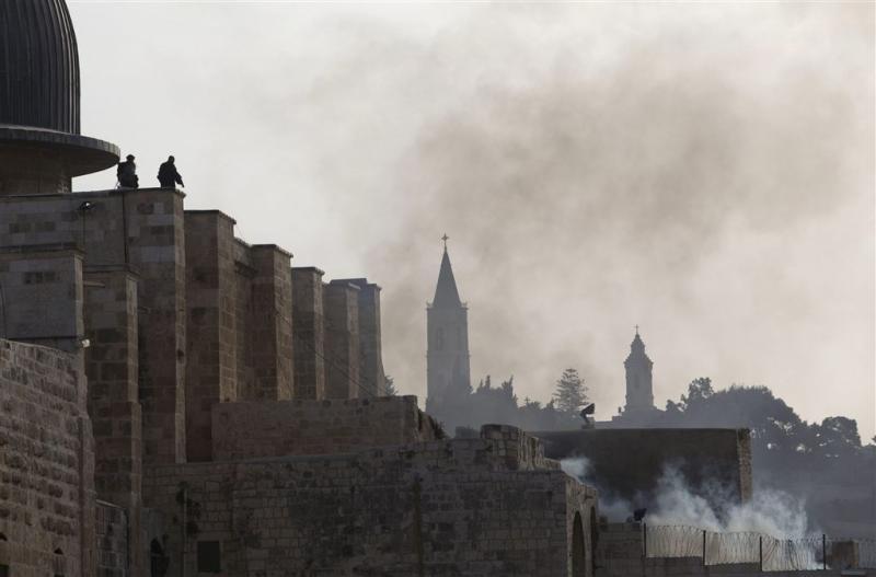 Rellen bij al-Aqsamoskee in Jeruzalem