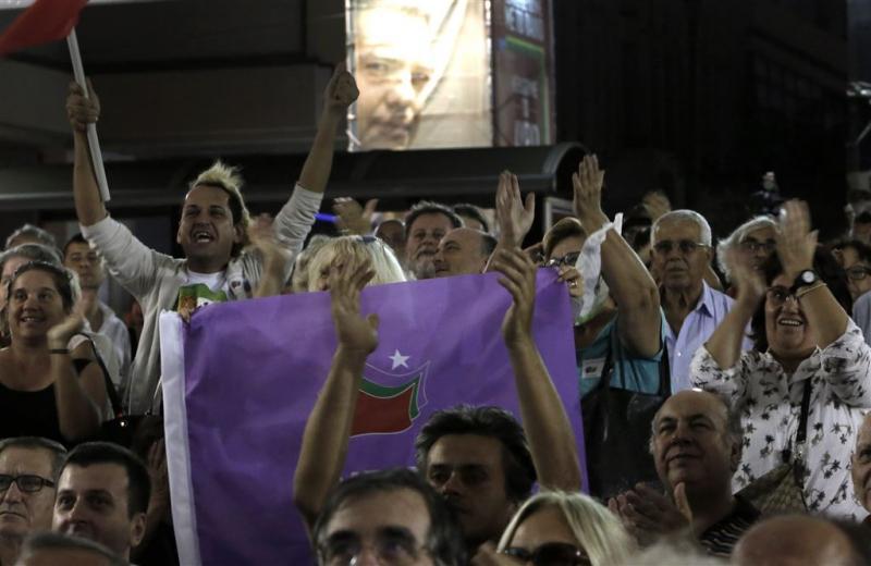 Syriza leidt met 35,5 procent van de stemmen
