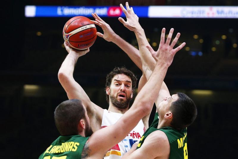 Spanje wint EK basketbal