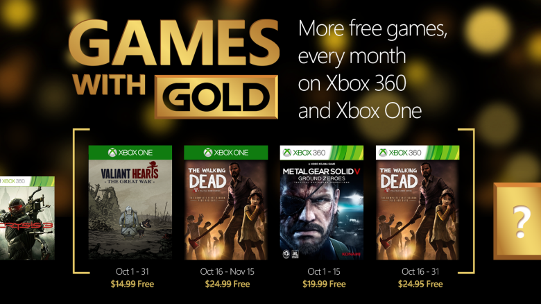 Games with Gold oktober 2015