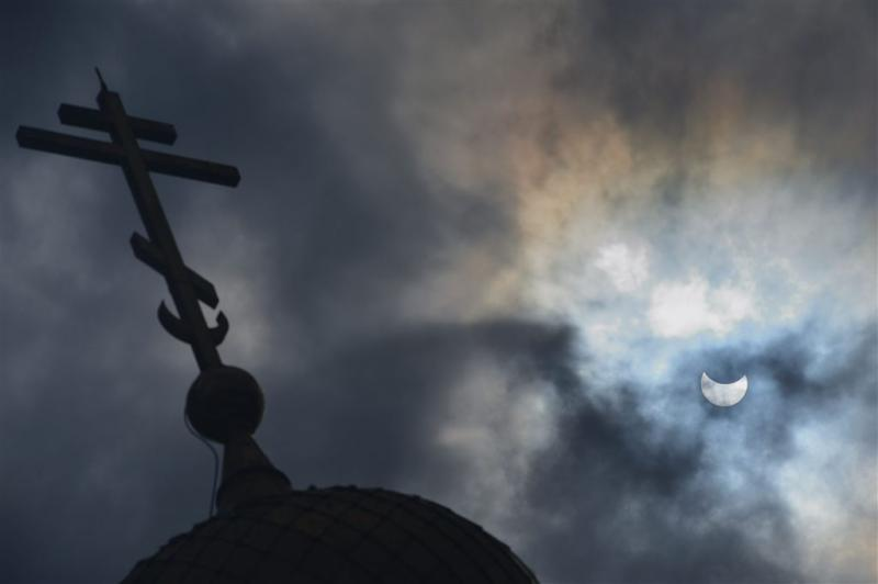Russisch-Orthodoxe Kerk achter luchtaanvallen