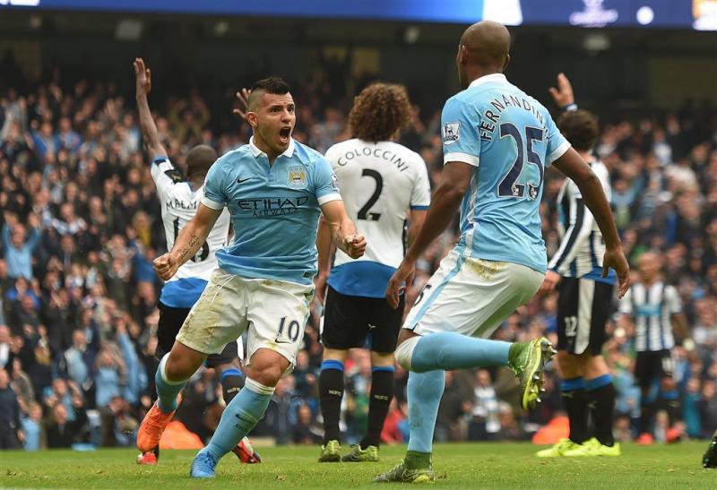 Agüero velt Newcastle met vijf doelpunten