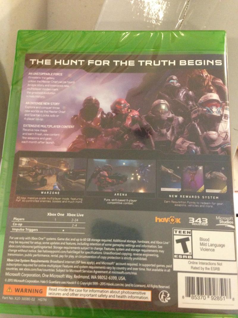 Halo 5 achterkant