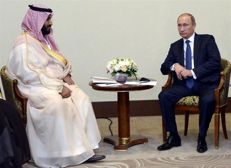 Poetin praat met Saudische Defensieminster