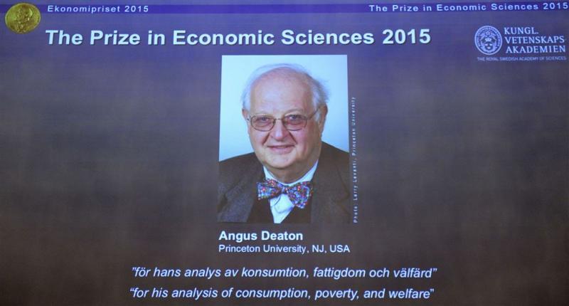 Angus Deaton krijgt Nobelprijs voor Economie