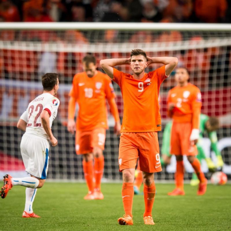 Huntelaar baalde na afloop van de uitschakeling van Oranje (Pro Shots/Ronald Bonestroo)