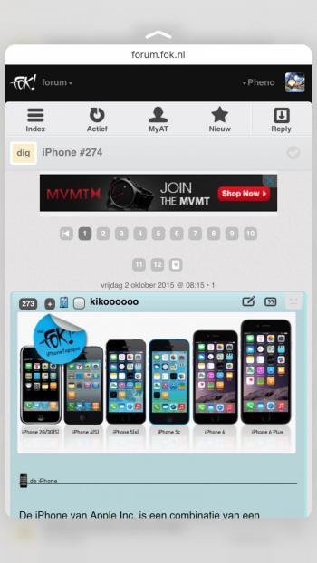 iPhone 6s peek and pop