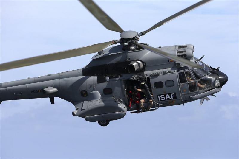 Spaanse legerhelikopter gecrasht in oceaan