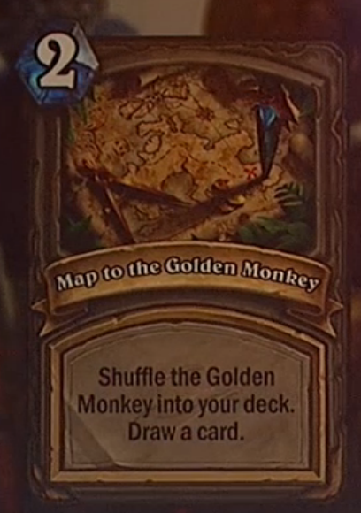 Map to the Golden Monkey Hearthstone