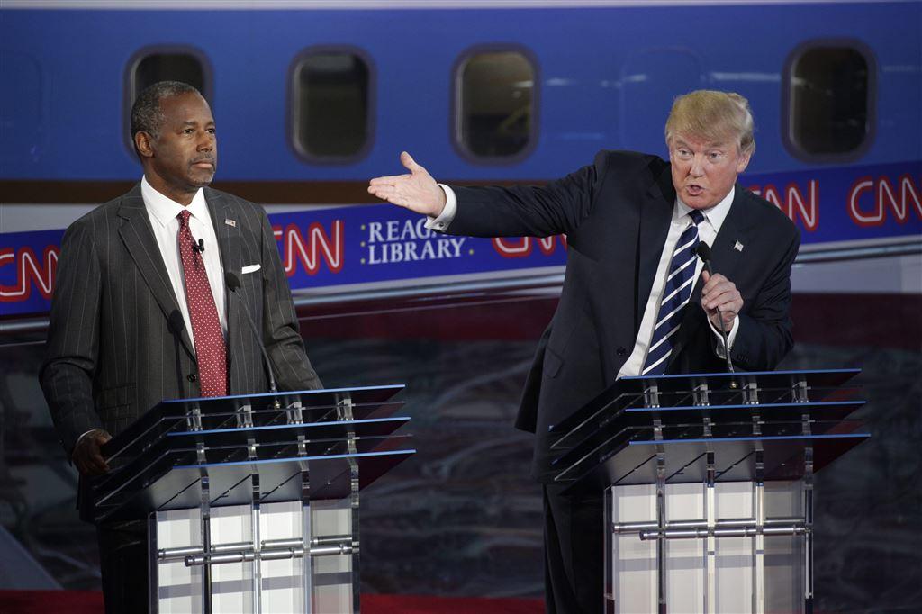 Ben Carson en Donald Trump
