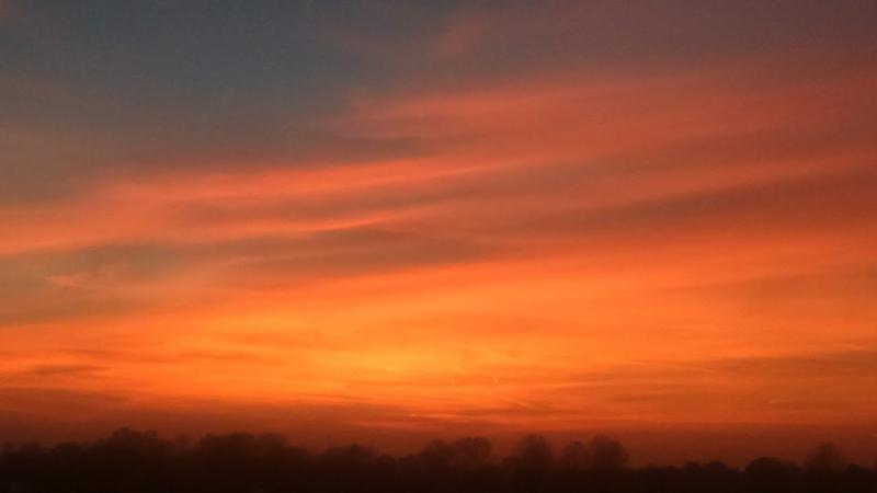 Zonsondergang in Daalmeer (Alkmaar)  (Foto: DJMO)
