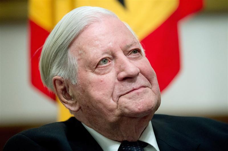 Voormalig bondskanselier Schmidt overleden