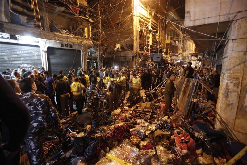 Dodental aanslagen Beiroet verder opgelopen