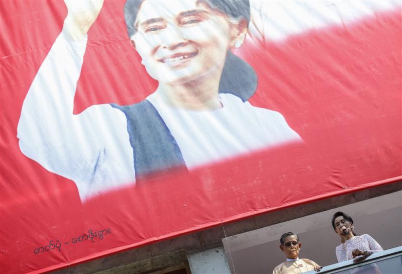 Partij Suu Kyi heeft absolute meerderheid