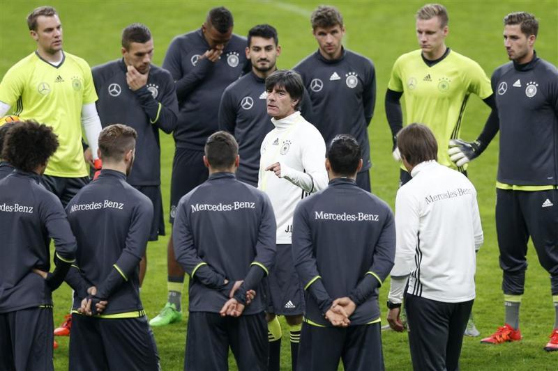 Duitse selectie ingekrompen tot achttien man
