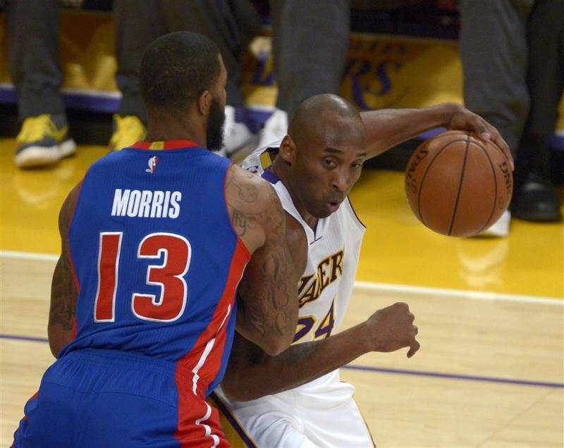 Bryant helpt Lakers langs Pistons