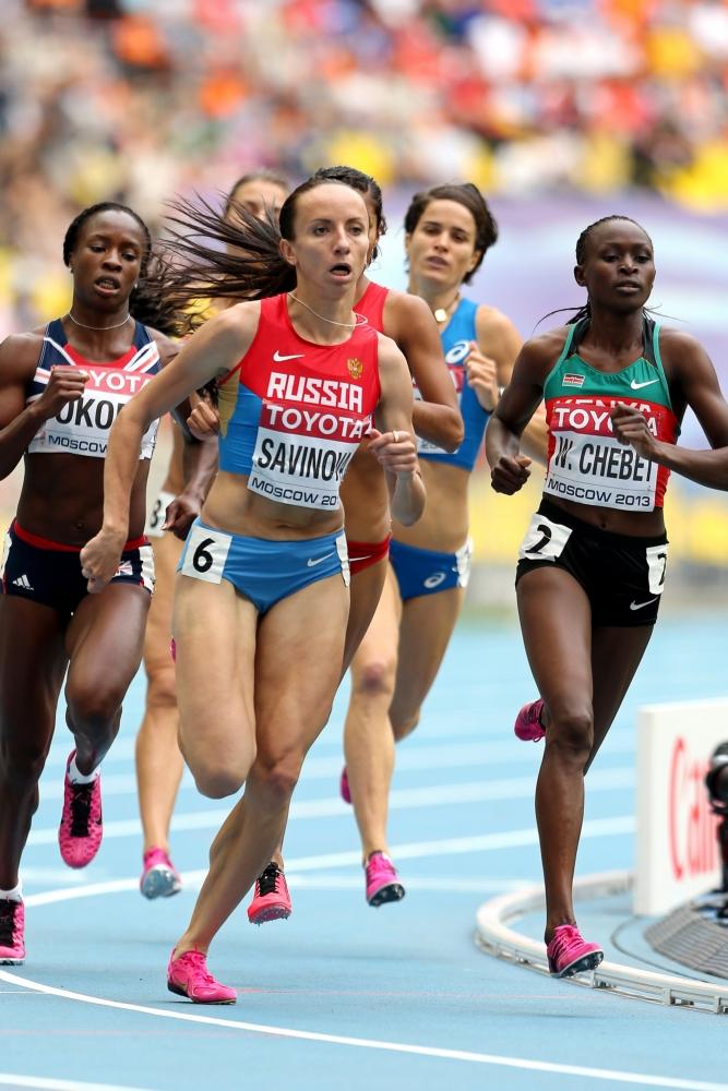 Mariya Savinova, olympisch kampioene op de 800 meter en waarschijnlijk één van de atletes die op de verkeerde plek hebben gepoept (Pro Shots/GEPA)