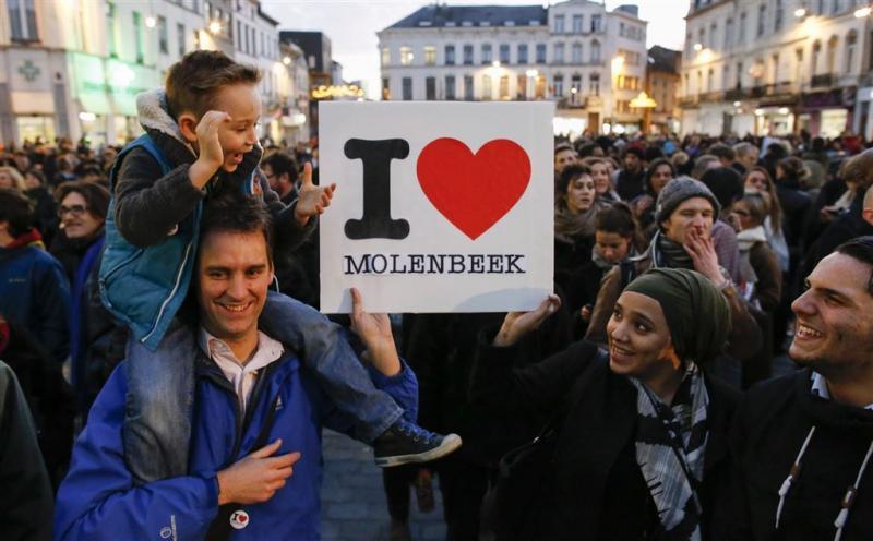 Duizenden mensen bijeen in Molenbeek