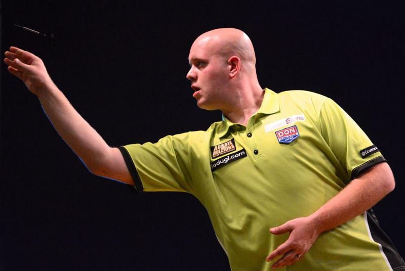 Darter Van Gerwen wint ook in Glasgow