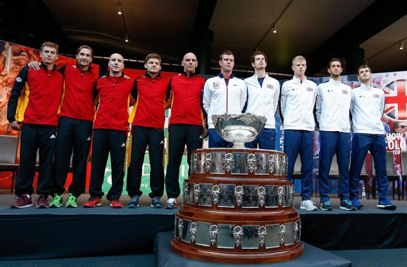 Belgen en Britten jagen op Daviscuptitel