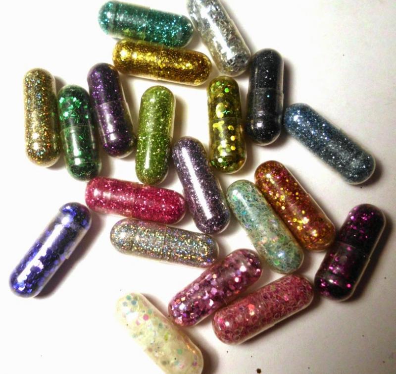 Glitterpillen voor inname