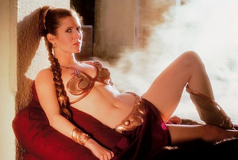 "Carrie Fisher: ""Episode VII laat je tong eruit vallen"" (Foto: The Guardian)"