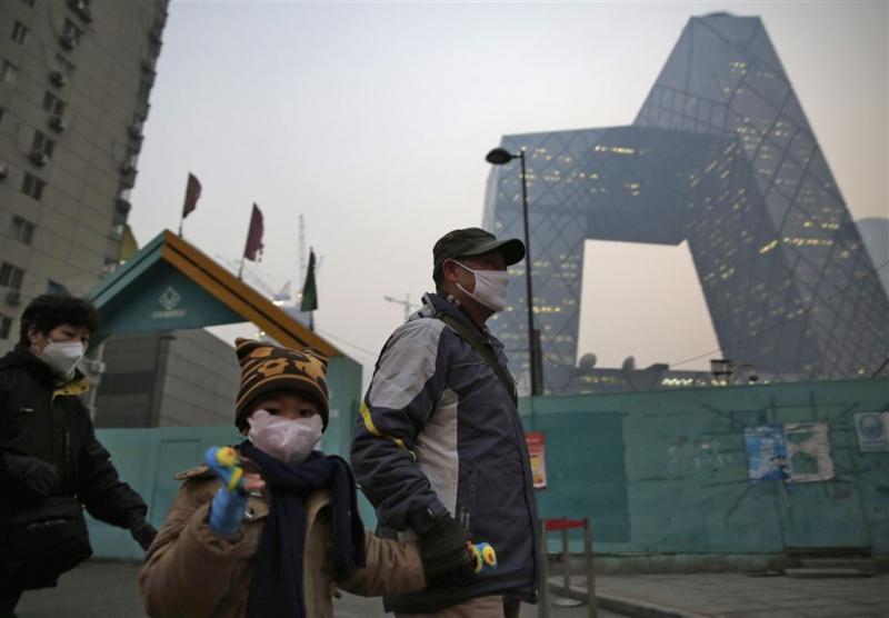 Hoogste alarmfase smog Peking