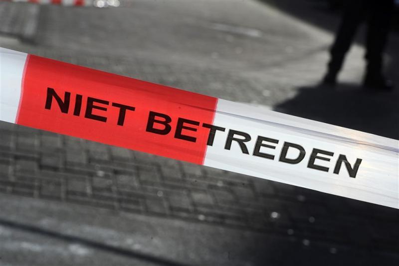 Straat afgezet in Groningen na geschiet