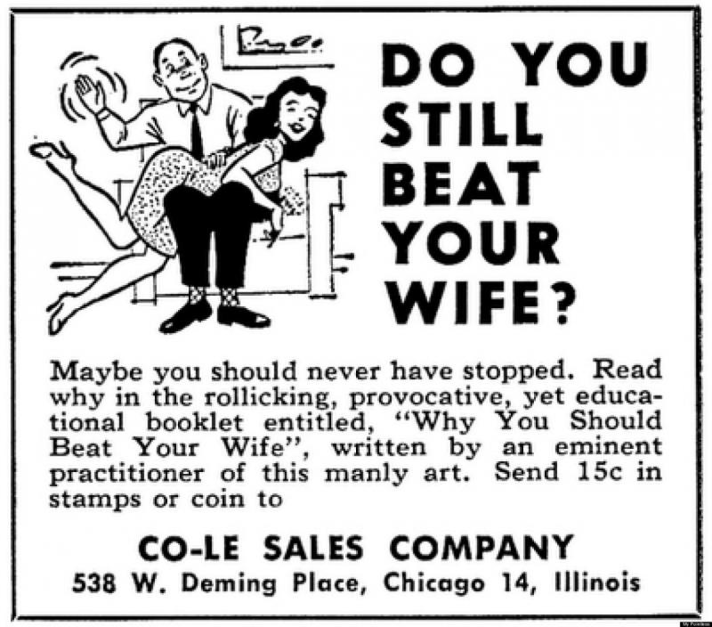 Do you beat your wife?