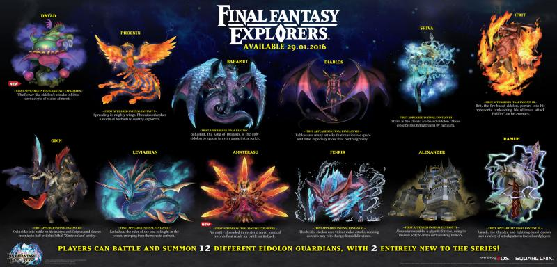 Eidolons in Final Fantasy Explorers