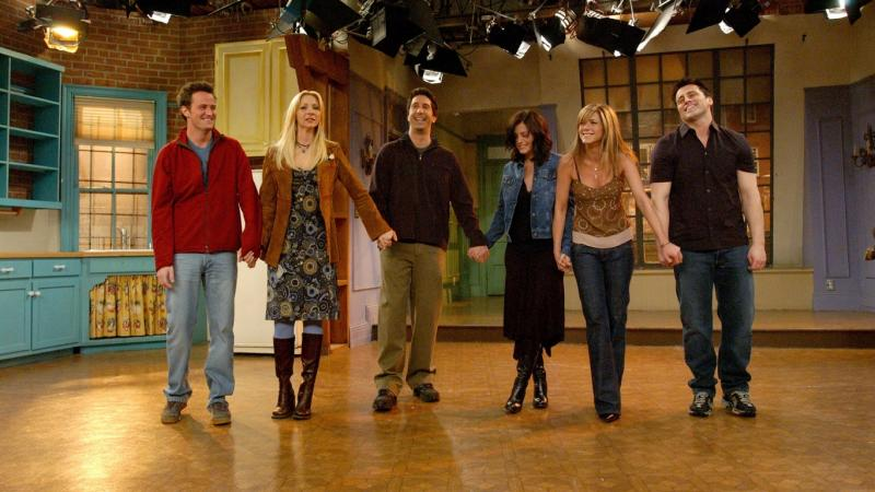 Friends cast on stage