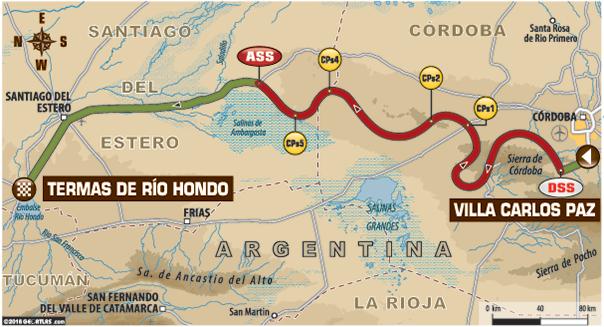 De route van de etappe