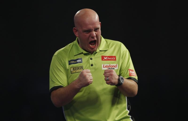 Niemand juicht intenser dan Michael van Gerwen (Pro Shots / Action Images)