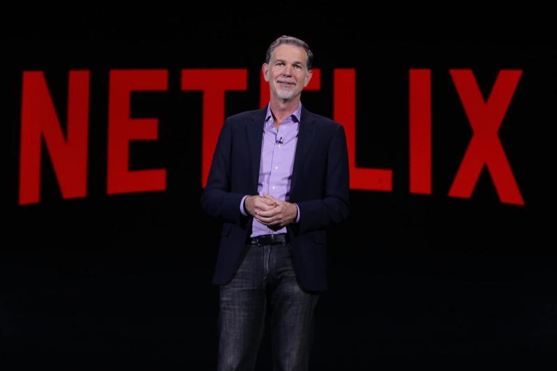 Netflix CEO Reed Hastings tijdens CES keynote (Foto: Netflix)