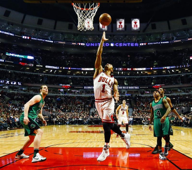 Bulls op dreef tegen Celtics