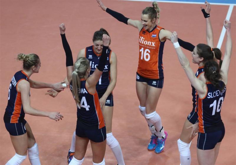 Volleybalsters Oranje tegen Italië